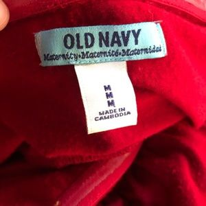 Old Navy Dresses - 3/$20 Old Navy Red Maternity Strapless Dress Sz M